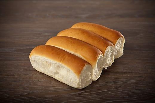 White Hotdog Bun Product Image